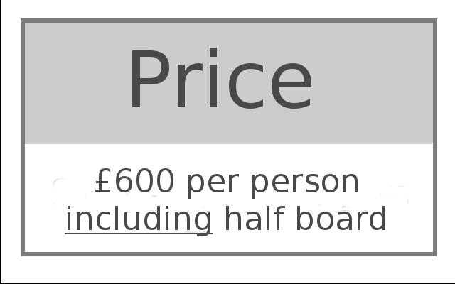Price £600 per person including half board